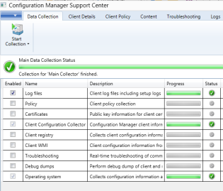 Configuration Manager Support Center