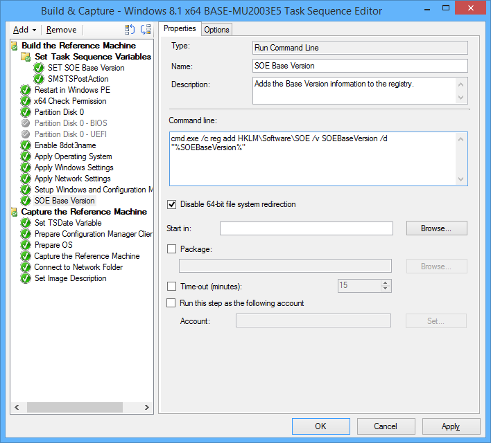 Versioning and naming your base SOE  wim during OSD | HappySCCM