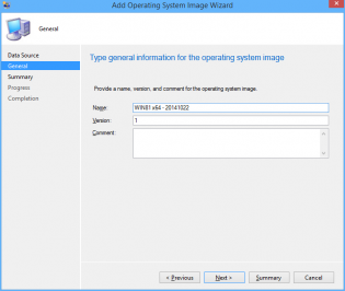 Add Operating System Wizard